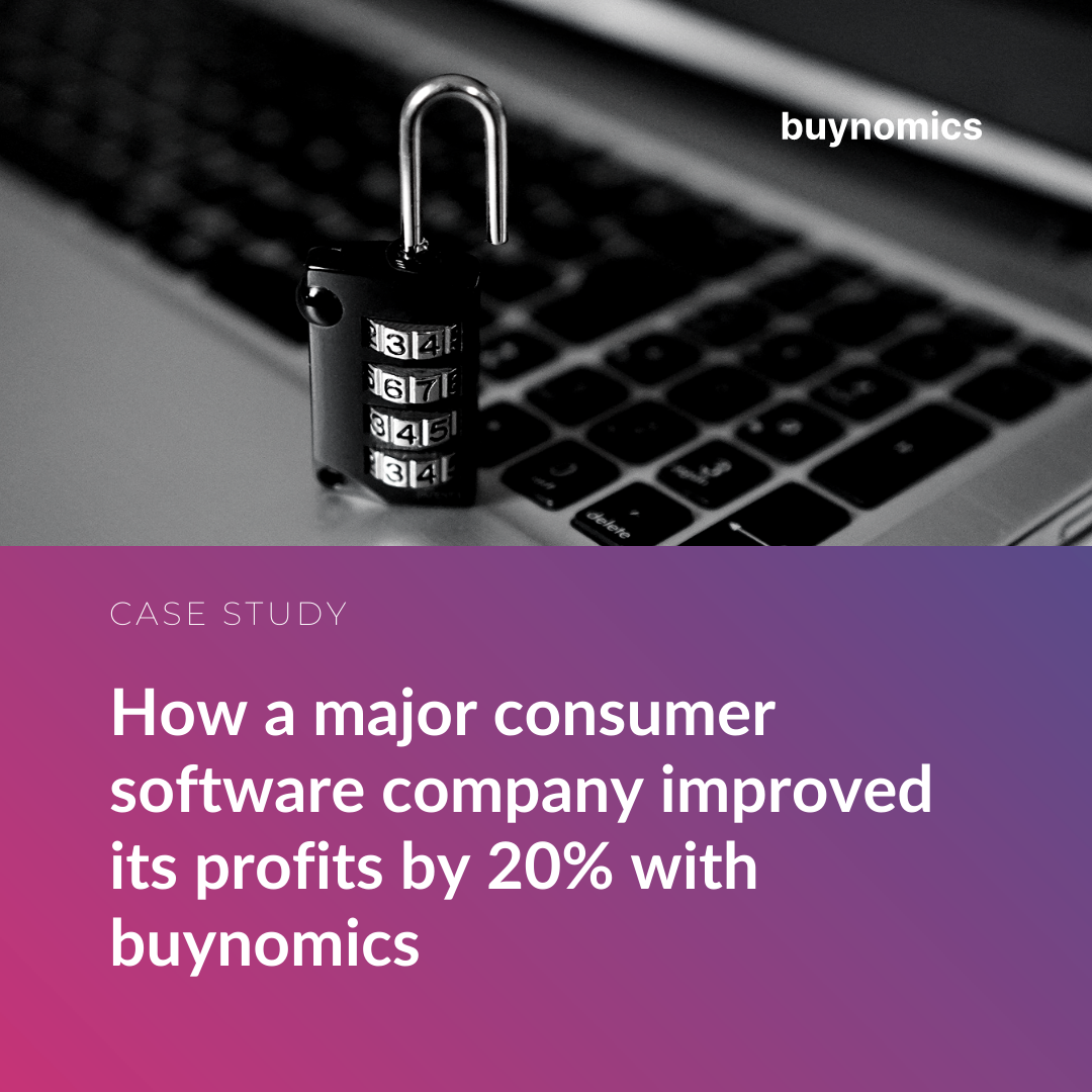 How a major consumer software company improved its profits by 20% with buynomics