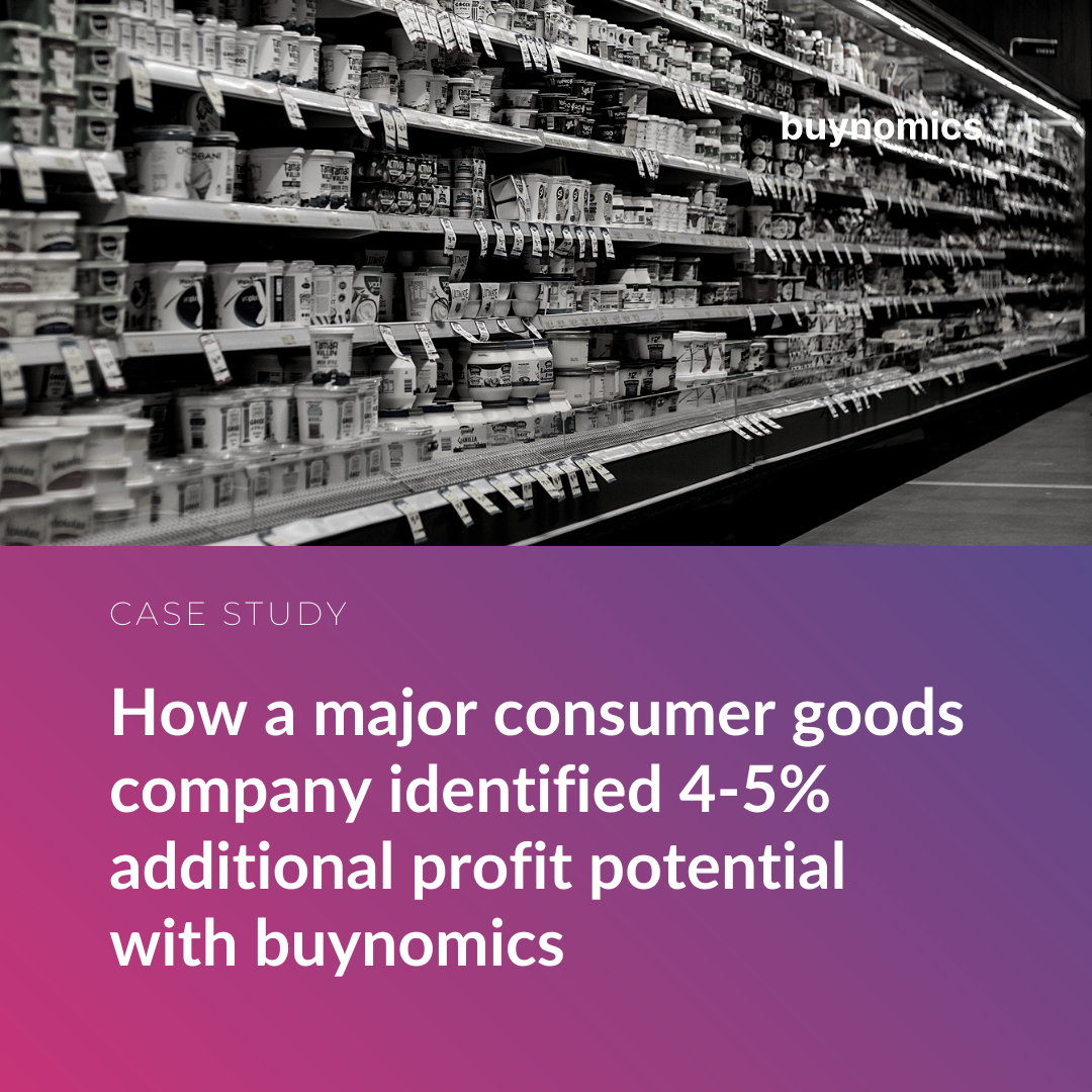 How a major consumer goods company identified 4-5% additional profit potential with buynomics