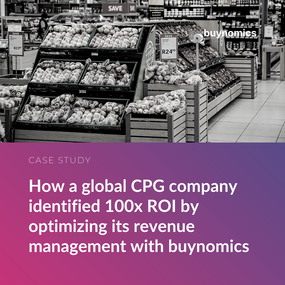 How a global CPG company identified 100x ROI by optimizing its revenue management with buynomics