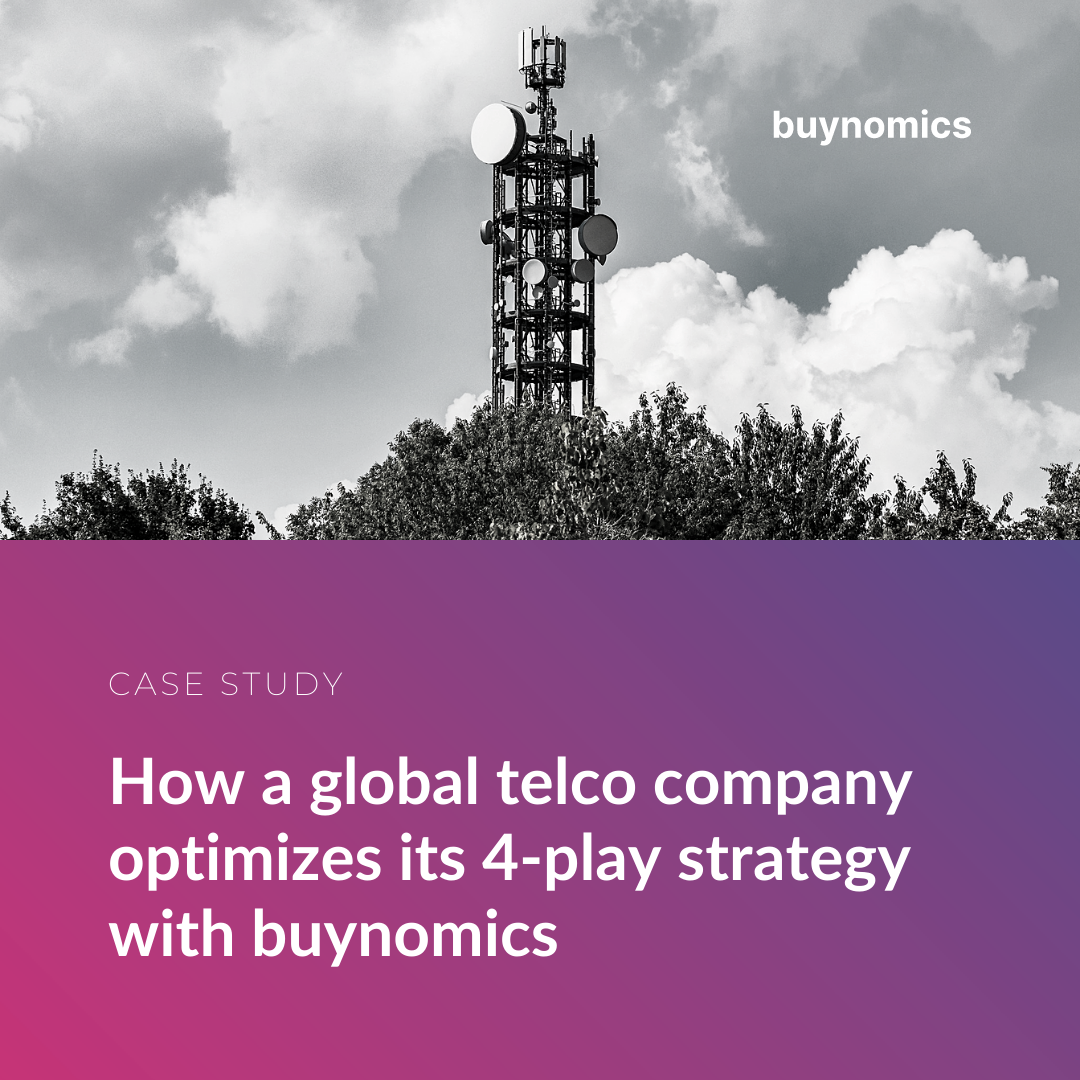 How a global telco company optimizes its 4-play strategy with buynomics