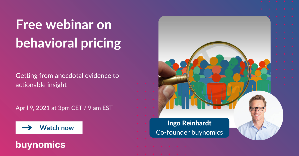 Webinar: Behavioral Pricing concepts explained | buynomics