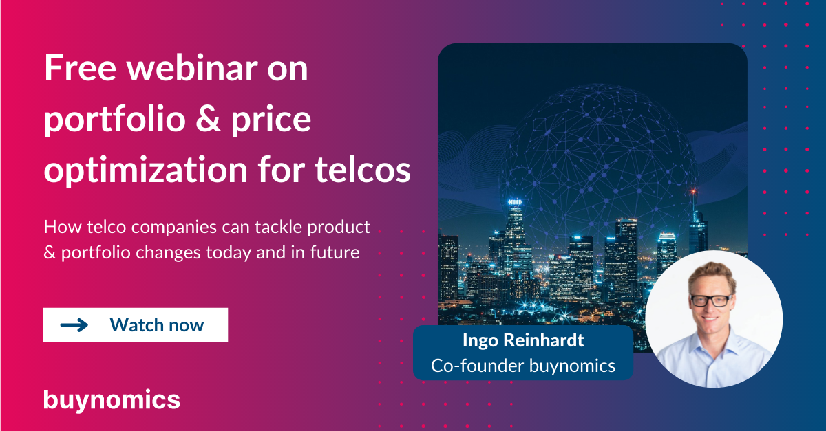 Webinar: Portfolio and Price Optimization in Telco | buynomics