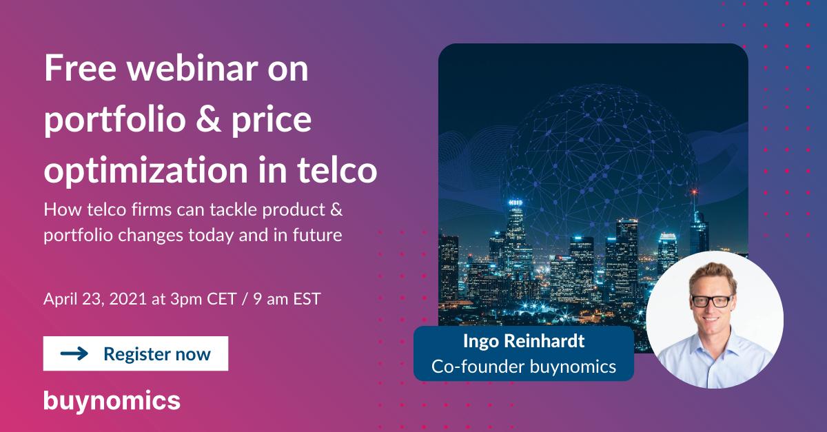 Webinar Portfolio and Price Optimization in Telco