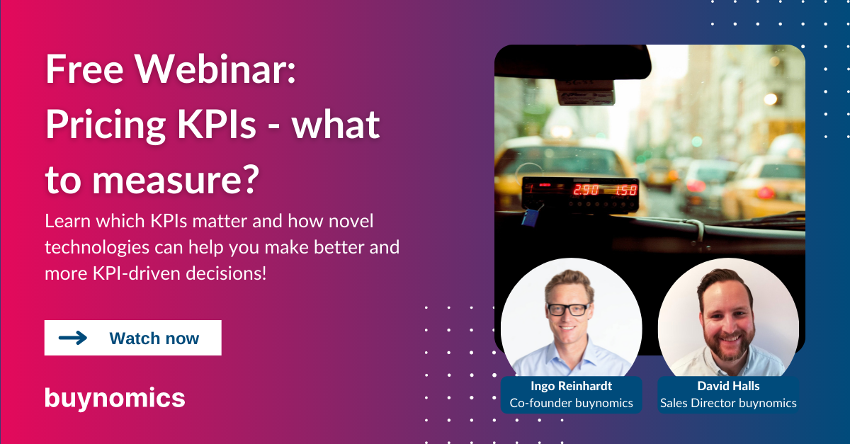 Webinar: Pricing KPIs - what you should measure and why it matters