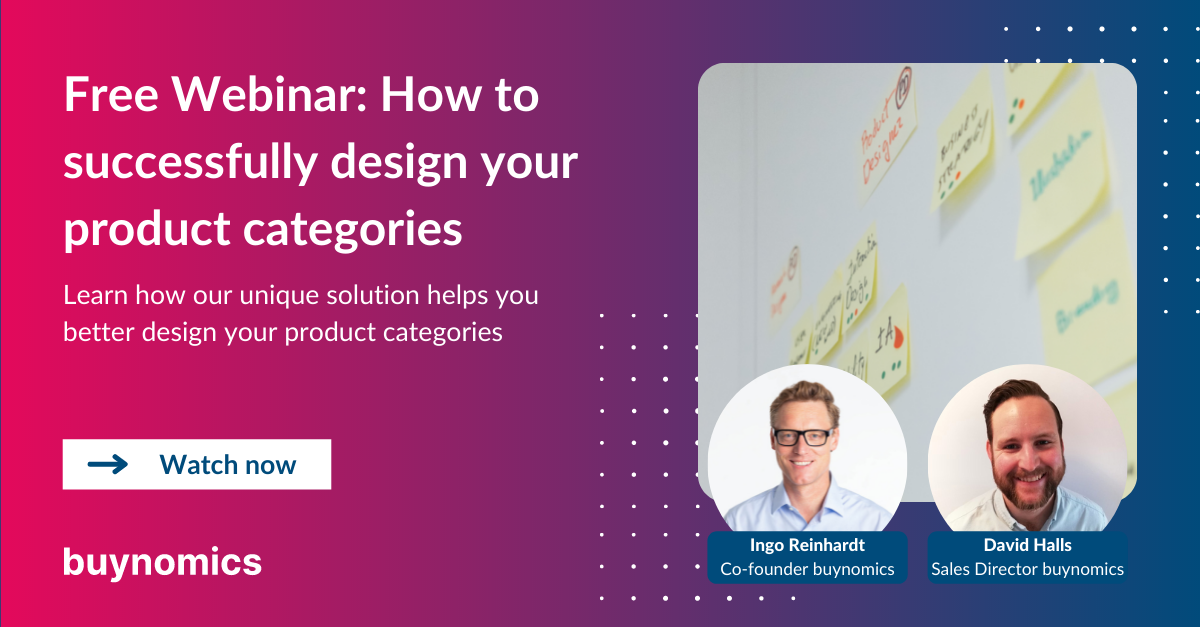 Webinar: How to successfully design your product categories | buynomics